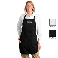 Port Authority Full-Length Apron with Pocket